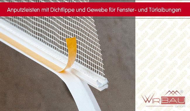 anputzleisten laibungsprofile f r ihre fassadend mmung g nstige baustoffe online. Black Bedroom Furniture Sets. Home Design Ideas