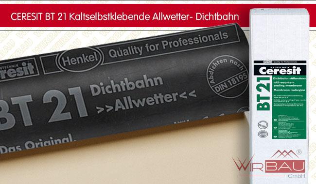 ceresit bt 21 dichtbahn allwetter g nstige baustoffe online. Black Bedroom Furniture Sets. Home Design Ideas