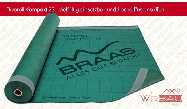Braas Divoroll Universal 2S grün Unterspannbahn 1,5 m x 50 m
