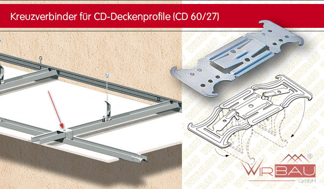 Bekannt Kreuzverbinder für CD-Deckenprofile - günstige Baustoffe online. IJ88