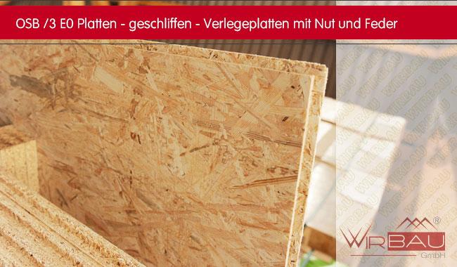 Osb Fußboden Trittschall ~ Osb n f geschliffen günstige baustoffe online